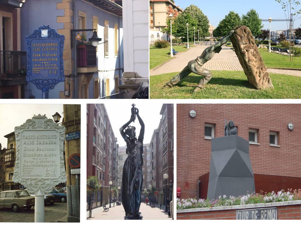 Estatuas y rotulos Portugalete